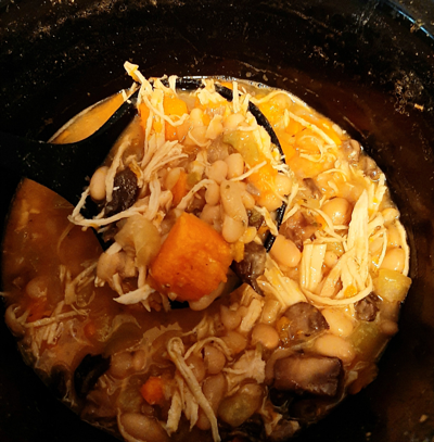 Sweet potato white chicken chili 2